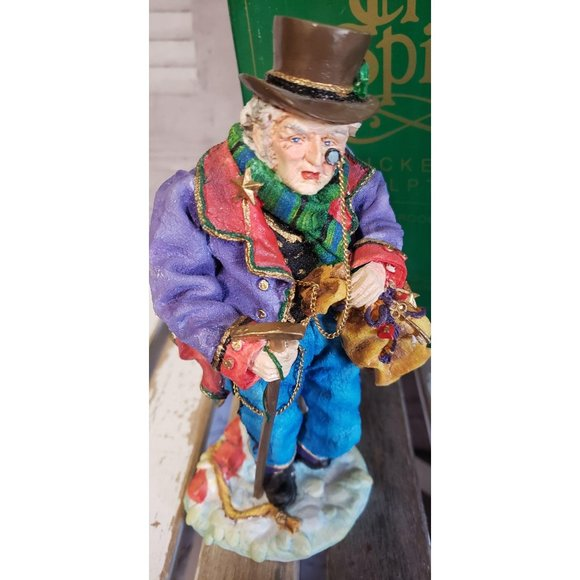 Dept 56 Dickens Sculpture In the Spirit Scrooge Or